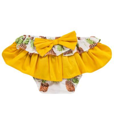 Imagem 2 do produto Conjunto de banho Pineapple: Bumbum + Faixa de Cabelo - Roana - BAST0904013 BANHO DE SOL TURBANTE 124 AMARELO-M