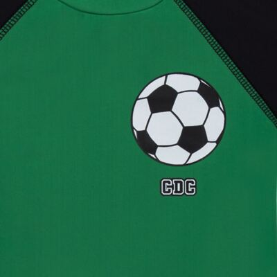 Imagem 3 do produto Conjunto de Banho Football: Camiseta surfista + Sunga - Cara de Criança - KIT 1 2529: SB2529+CSA2529 SUNGA E CAMISETA FUTEBOL-4