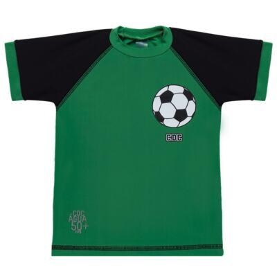Imagem 2 do produto Conjunto de Banho Football: Camiseta surfista + Sunga - Cara de Criança - KIT 1 2529: SB2529+CSA2529 SUNGA E CAMISETA FUTEBOL-2