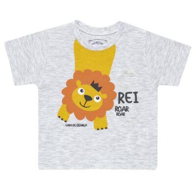 Imagem 2 do produto Pijama curto que Brilha no Escuro Lion - Cara de Criança - BC1943 REI LEÃO BC PJ - BB CURTA C/CALÇA M/MALHA-M
