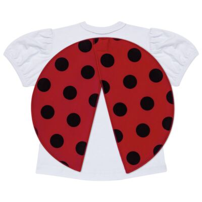 Imagem 3 do produto Pijama curto para bebe que Brilha no Escuro Joaninha - Cara de Criança - U2281 JOANINHA 10 U PIJAMA CURTO M/MALHA-3