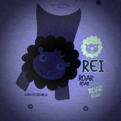 Imagem 4 do produto Pijama curto que Brilha no Escuro Lion - Cara de Criança - BC1943 REI LEÃO BC PJ - BB CURTA C/CALÇA M/MALHA-G