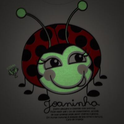 Imagem 5 do produto Pijama curto para bebe que Brilha no Escuro Joaninha - Cara de Criança - U2281 JOANINHA 10 U PIJAMA CURTO M/MALHA-2