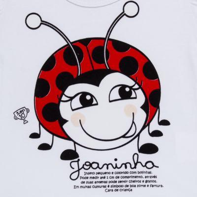 Imagem 6 do produto Pijama curto para bebe que Brilha no Escuro Joaninha - Cara de Criança - U2281 JOANINHA 10 U PIJAMA CURTO M/MALHA-2