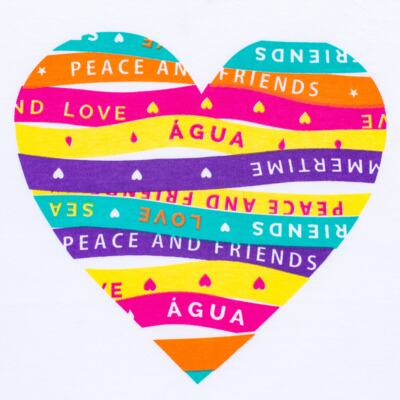 Imagem 3 do produto Conjunto de Banho Peace & Love: Camiseta + Biquíni - Cara de Criança - KIT 1 2586: B2586+CCA2586 BIQUINI E CAMISETA SUMMER-2