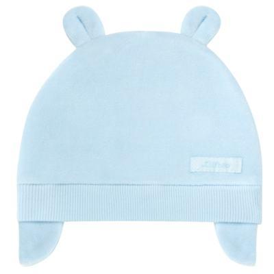 Imagem 1 do produto Touca Orelhinha para bebe em plush Azul - Tilly Baby - TB13173.09 GORRO BASICO DE PLUSH COM ORELHA AZUL-P