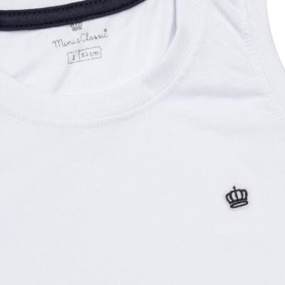 Imagem 2 do produto Regata em malha Branca - Mini & Classic - 9501671 REGATA AVULSA MALHA BRANCA-1