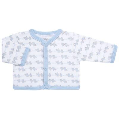 Imagem 2 do produto Conjunto Pagão Elefantinho: Casaquinho + Body longo + Calça - Tilly Baby - TB170221.01 KIT BODY CALCA E CASACO ELEFANTINHOS AZUL BEBE-RN
