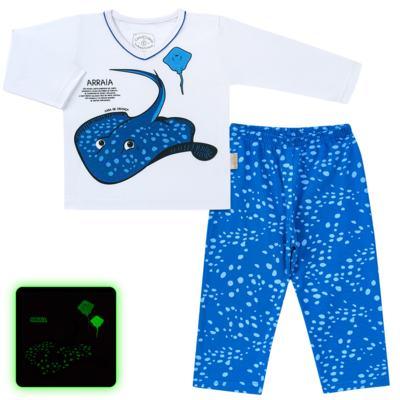 Imagem 1 do produto Pijama longo que Brilha no escuro Arraia - Cara de Criança - L2347 ARRAIA L PJ-LONGO M/MALHA-3