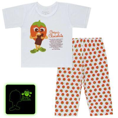 Imagem 1 do produto Pijama Curto que Brilha no Escuro Caqui Chocolate - Cara de Criança - C1912 CAQUI CHOCOLATE C PJ - MG CURTA C/CALCA M/MALHA -1