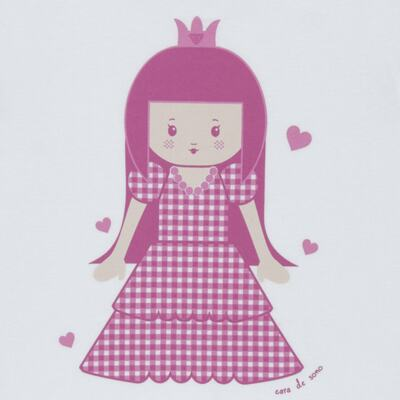Imagem 3 do produto Pijama curto com Shorts em malha Princesinha - Cara de Sono - U1997 PRINCESINHA U PIJAMA-CURTO M/MALHA -1