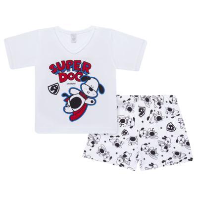 Imagem 1 do produto Pijama curto em malha Super Dog - Cara de Sono - U2462 SUPER DOG U PIJAMA-CURTO M/MALHA-1