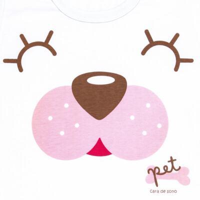 Imagem 3 do produto Pijama curto com Shorts em malha Cachorrinha - Cara de Sono - U2118 PET MENINA PIJAMA-CURTO M/MALHA-3