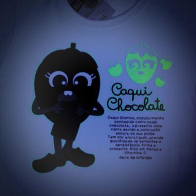Imagem 4 do produto Pijama Curto que Brilha no Escuro Caqui Chocolate - Cara de Criança - C1912 CAQUI CHOCOLATE C PJ - MG CURTA C/CALCA M/MALHA -2