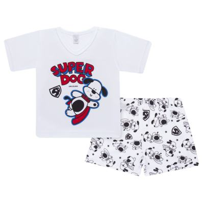 Imagem 1 do produto Pijama curto em malha Super Dog - Cara de Sono - U2462 SUPER DOG U PIJAMA-CURTO M/MALHA-4