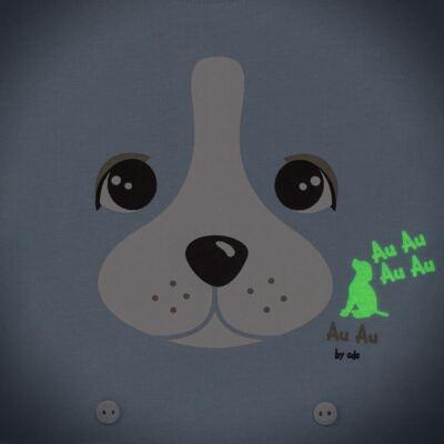 Imagem 4 do produto Pijama 4 botões que Brilha no Escuro Blue Dog - Cara de Criança - 4L2218 PET MENINO 4L PJ  BOTOES -LONGO M/MALHA-P