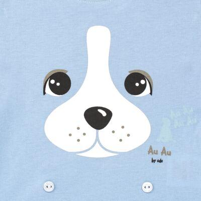 Imagem 3 do produto Pijama 4 botões que Brilha no Escuro Blue Dog - Cara de Criança - 4L2218 PET MENINO 4L PJ  BOTOES -LONGO M/MALHA-G