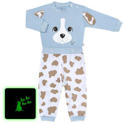 Imagem 1 do produto Pijama 4 botões que Brilha no Escuro Blue Dog - Cara de Criança - 4L2218 PET MENINO 4L PJ  BOTOES -LONGO M/MALHA-M