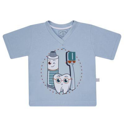Imagem 2 do produto Pijama curto que Brilha no Escuro Dentinho - Cara de Criança - U2887 TIME SORRISO MASC. U PIJAMA CURTO M/MALHA -3