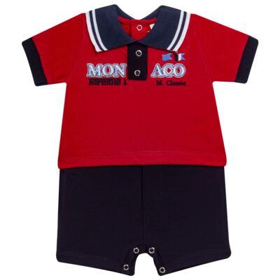 Imagem 1 do produto Macacão polo para bebe em malha Racing - Mini & Classic