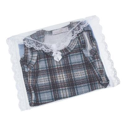 Imagem 5 do produto Body regata c/ Cobre Fralda para bebe em algodão egípcio Windsor - Roana - 02132024370 Body c/ Cueca Xadrez Azul -M