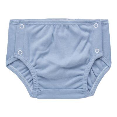 Imagem 4 do produto Body regata c/ Cobre Fralda para bebe em algodão egípcio Windsor - Roana - 02132024370 Body c/ Cueca Xadrez Azul -RN
