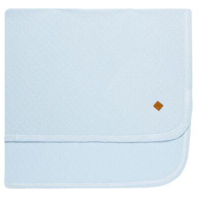 Imagem 4 do produto Jogo Maternidade com Macacão e Manta em viscomfort Ovelhinha Azul - Petit - 47094345 JG MAT. MACAC. ML GOLA MATELASSE OVELHA MASC.-P