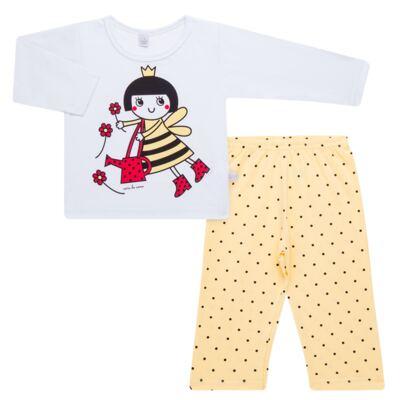 Imagem 1 do produto Pijama longo em malha Abelhinha - Cara de Sono - L2434 ABELINHA L PG-LONGO M/MALHA-3