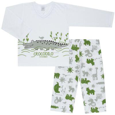 Imagem 1 do produto Pijama longo em malha Croc - Cara de Sono - L1988 CROCODILO L PJ-LONGO M/MALHA-1