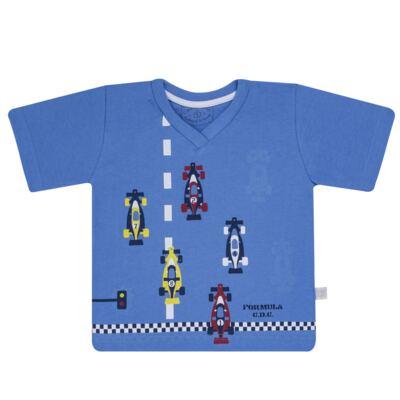 Imagem 2 do produto Pijama curto que Brilha no Escuro Fórmula 1 - Cara de Criança - U2888 FORMULA 1 U PIJAMA CURTO M/MALHA-2