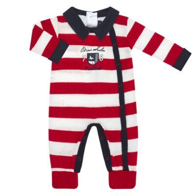Imagem 2 do produto Jogo Maternidade para bebe com Macacão + Body longo + Manta em tricot  Náutico - Mini Sailor - 47204443 Jogo Maternidade S Longo c/ Body Tricot Vermelho -0-3