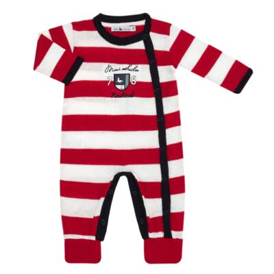 Imagem 3 do produto Jogo Maternidade para bebe com Macacão + Body longo + Manta em tricot  Náutico - Mini Sailor - 47204443 Jogo Maternidade S Longo c/ Body Tricot Vermelho -0-3