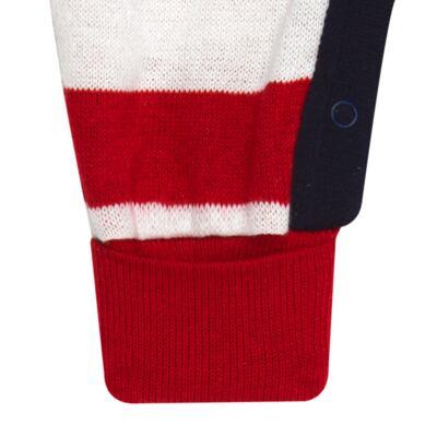 Imagem 5 do produto Jogo Maternidade para bebe com Macacão + Body longo + Manta em tricot  Náutico - Mini Sailor - 47204443 Jogo Maternidade S Longo c/ Body Tricot Vermelho -NB