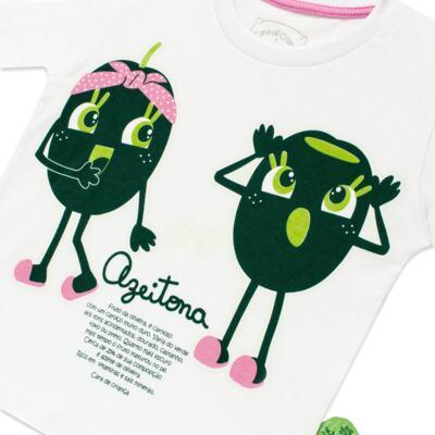 Imagem 3 do produto Pijama longo que Brilha no Escuro Azeitoninha - Cara de Criança - L1638 AZEITONA L PJ-LONGO M/MALHA-3