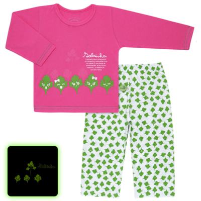 Imagem 1 do produto Pijama longo que Brilha no Escuro Salsinha - Cara de Criança - L1913 SALSINHA L PJ-LONGO M/MALHA-2