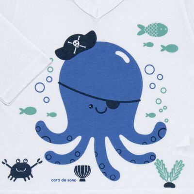 Imagem 3 do produto Pijama longo em malha Polvinho - Cara de Sono - L1991 POLVO L PJ-LONGO M/MALHA -2