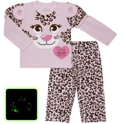 Imagem 1 do produto Pijama longo que Brilha no Escuro Oncinha - Cara de Criança - L1820 ONCA PINTADA L PJ-LONGO M/MALHA-2
