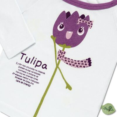Imagem 3 do produto Pijama longo que Brilha no Escuro Tulipinha - Cara de Criança - L1687 TULIPA L PJ-LONGO CANELADO -3