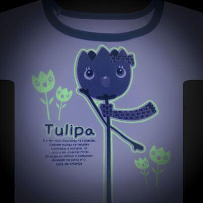 Imagem 4 do produto Pijama longo que Brilha no Escuro Tulipinha - Cara de Criança - L1687 TULIPA L PJ-LONGO CANELADO -3