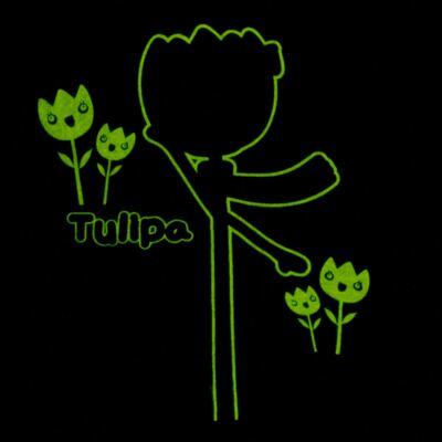 Imagem 5 do produto Pijama longo que Brilha no Escuro Tulipinha - Cara de Criança - L1687 TULIPA L PJ-LONGO CANELADO -1