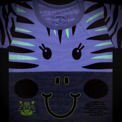 Imagem 4 do produto Pijama longo que Brilha no Escuro Zebrinha - Cara de Criança - L1646 ZEBRA L PJ-LONGO M/MALHA -2