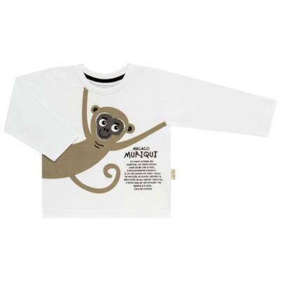 Imagem 2 do produto Pijama longo que Brilha no Escuro Muriqui - Cara de Criança - L1660 MURIQUI L PJ-LONGO M/MALHA -1
