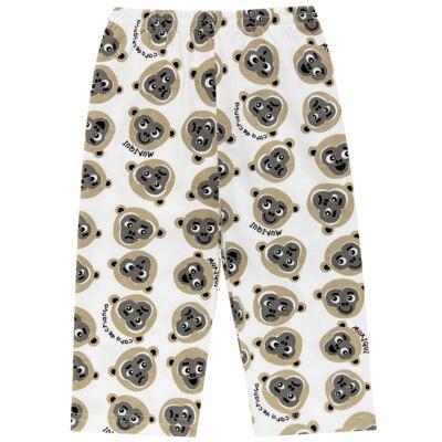 Imagem 6 do produto Pijama longo que Brilha no Escuro Muriqui - Cara de Criança - L1660 MURIQUI L PJ-LONGO M/MALHA -1