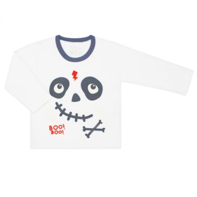 Imagem 2 do produto Pijama longo que brilha no escuro em soft Caveirinha - Cara de Criança - S1659 CAVEIRA BOO S PIJAMA-SOFT SOFT-2