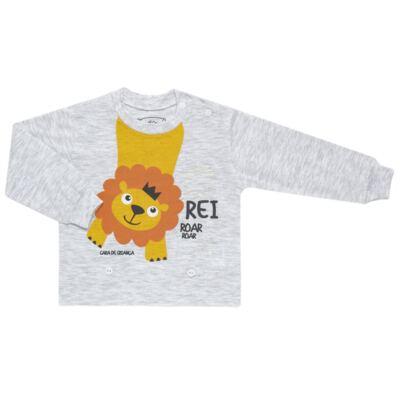 Imagem 2 do produto Pijama 4 botões que Brilha no Escuro Lion - Cara de Criança - 4L1943 REI LEAO 4L PJ 4 BOTOES - LONGO M/MALHA-GG
