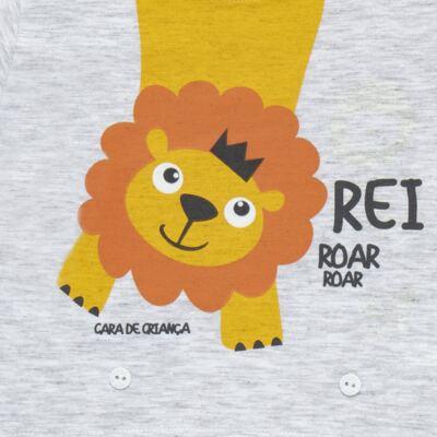 Imagem 3 do produto Pijama 4 botões que Brilha no Escuro Lion - Cara de Criança - 4L1943 REI LEAO 4L PJ 4 BOTOES - LONGO M/MALHA-GG