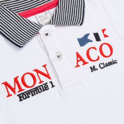 Imagem 2 do produto Camiseta polo em cotton Racing - Mini & Classic - 6012668 CAMISETA POLO M/C COTTON GRAND PRIX-GG