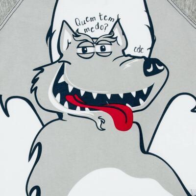 Imagem 2 do produto Camiseta em malha Lobo Mau - CDC T-shirt