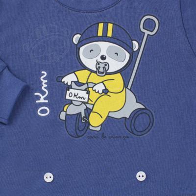 Imagem 3 do produto Pijama 4 botões que Brilha no Escuro Biel Bike - Cara de Criança - 4L2338 BIEL BIKE 4L PJ 4 BOTOES-LONGO M/MALHA-P