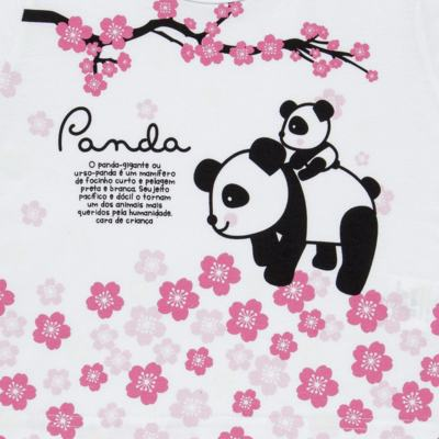 Imagem 3 do produto Pijama longo que Brilha no Escuro Panda - Cara de Criança - L1816 PANDA SAKURA L PJ - LONGO M/MALHA-3
